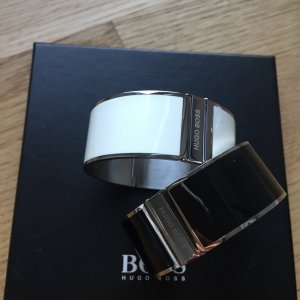 Hugo Boss Bangle wit-zwart