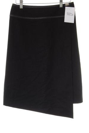 Hugo Boss Asymmetrie-Rock schwarz-silberfarben Elegant