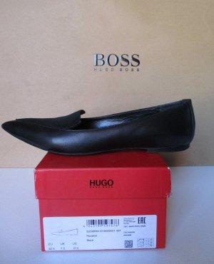 Hugo Boss Ballerina Damen Schuhe schwarz Leder Größe 40,5