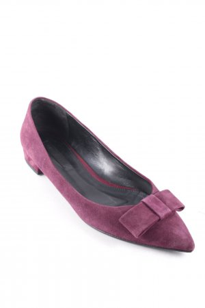 Hugo Boss Ballerinas mit Spitze bordeauxrot Romantik-Look