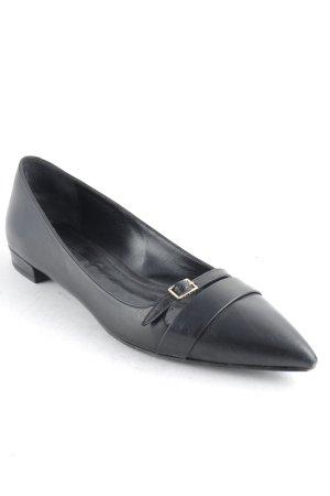 Hugo Boss Ballerinas mit Spitze schwarz Business-Look