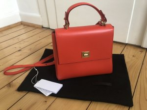 Hugo Boss Bespoke small Handtasche crossbody Leder rot orange goldene Hardware Trend