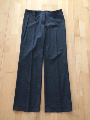 Hugo Boss Pantalon taille haute gris laine vierge