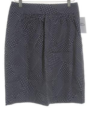 Hugo Boss Bleistiftrock dunkelblau-weiß Punktemuster Casual-Look