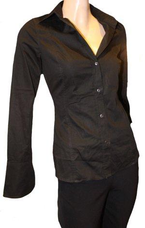HUGO BOSS Bluse Hemd schwarz Gr. 36