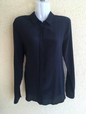 HUGO Boss Bluse schwarz Seide Spitze sexy Rückenfrei 34 36 S