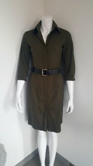 Hugo Boss, Blusen Kleid, Khaki, Gr.34, o. Gue