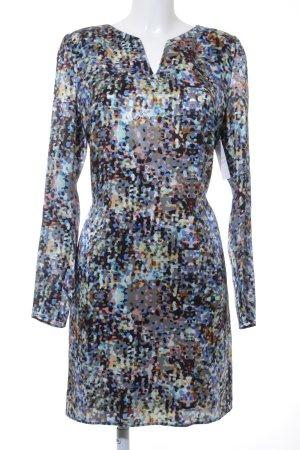 Hugo Boss Blusenkleid blau-creme abstraktes Muster Casual-Look