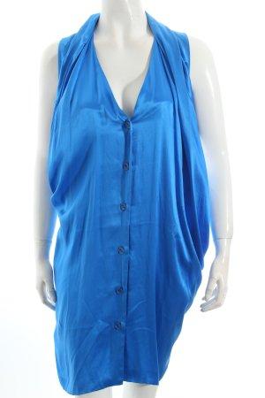 Hugo Boss Blusenkleid neonblau Casual-Look