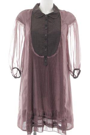 Hugo Boss Blusenkleid roségoldfarben-brombeerrot Casual-Look