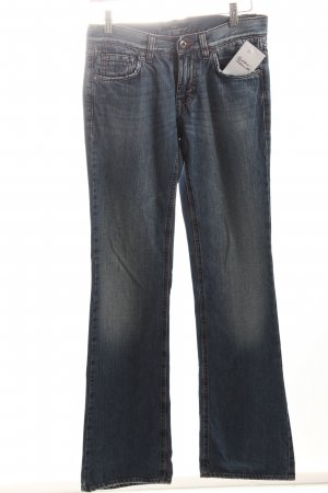 Hugo Boss Boot Cut Jeans blau Washed-Optik