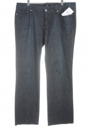 Hugo Boss Boot Cut Jeans dark blue-silver-colored casual look