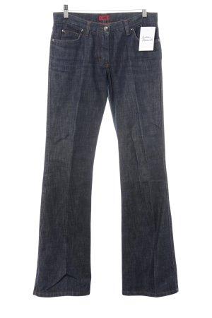 Hugo Boss Boot Cut Jeans stahlblau-schwarz Farbverlauf Casual-Look