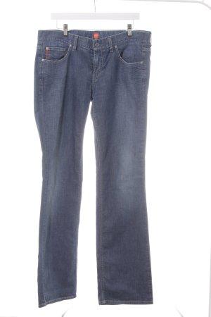 Hugo Boss Boot Cut Jeans stahlblau-weiß Farbverlauf Casual-Look