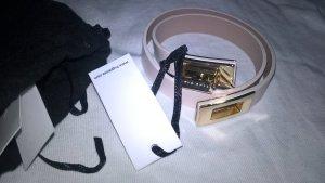 Hugo Boss Leather Bracelet natural white leather
