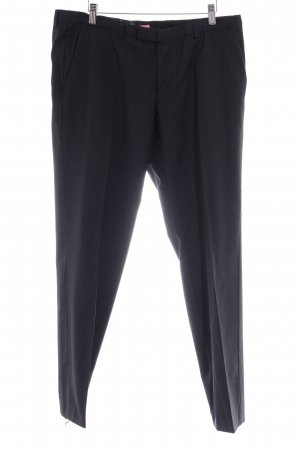 Hugo Boss Bundfaltenhose dunkelblau Nadelstreifen Business-Look