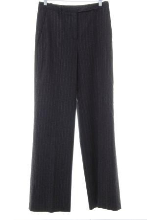 Hugo Boss Bundfaltenhose dunkelblau-schwarz Streifenmuster Business-Look