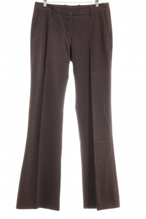 Hugo Boss Bundfaltenhose dunkelbraun Business-Look