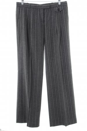 Hugo Boss Bundfaltenhose grau-hellgrau Streifenmuster Business-Look