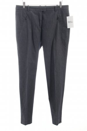 Hugo Boss Bundfaltenhose graublau meliert Business-Look