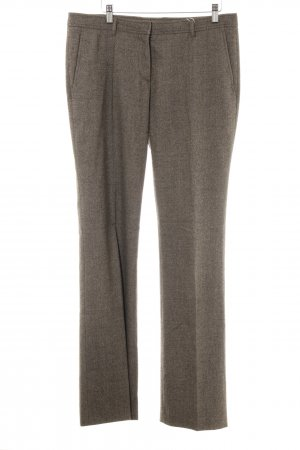 Hugo Boss Pleated Trousers light brown-natural white flecked business style