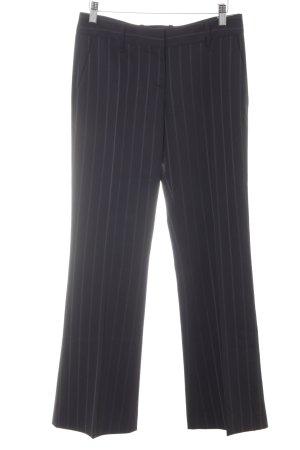 Hugo Boss Bandplooibroek zwart-mauve gestreept patroon zakelijke stijl