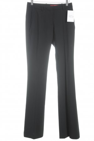 Hugo Boss Bundfaltenhose schwarz Business-Look