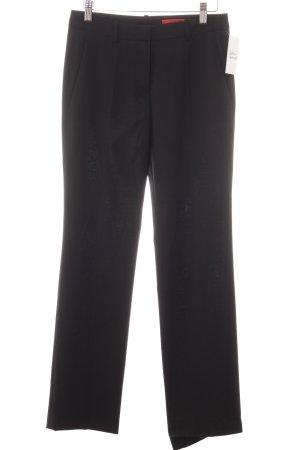 Hugo Boss Bundfaltenhose schwarz Elegant