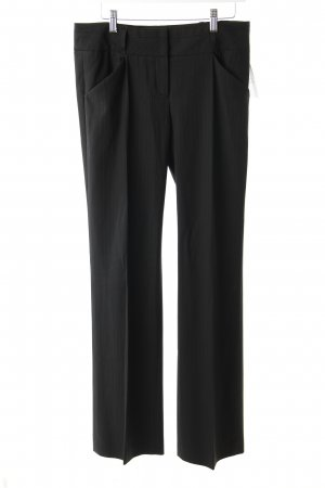 Hugo Boss Bundfaltenhose schwarz Nadelstreifen klassischer Stil