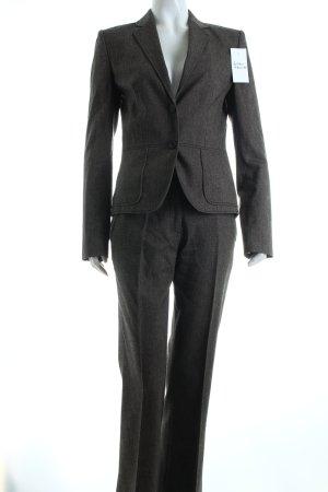 Hugo Boss Business-Anzug dunkelbraun-hellbraun Fischgrätmuster klassischer Stil