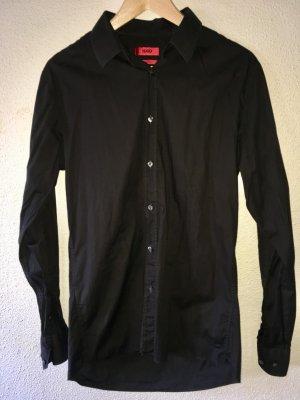 Hugo Boss Long Sleeve Shirt black cotton