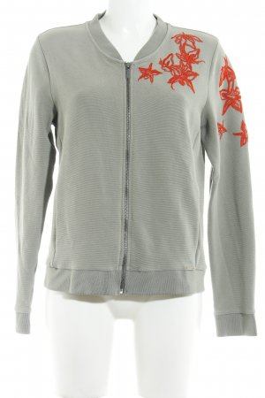 Hugo Boss College Jacket green grey-red flower pattern patchwork look