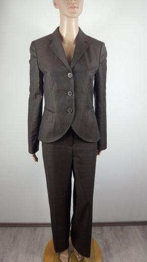 Hugo Boss Damen Anzug Blazer Business Schurwolle Kaschmir braun Größe 36