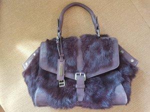 HUGO BOSS Damen Handtasche mit Tragegriff (Leder Fell) (bordeauxrot) (Wie NEU)