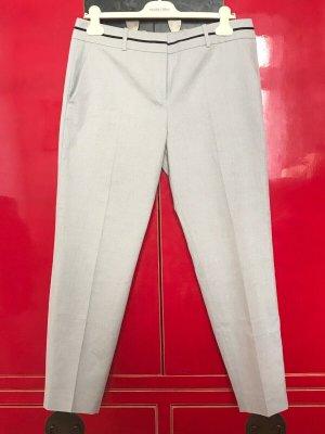 Hugo Boss Pantalon boyfriend argenté-blanc coton