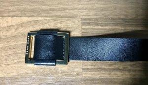 Hugo Boss Leather Belt black-gold-colored