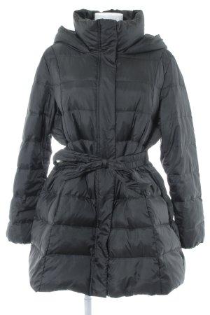 Hugo Boss Manteau en duvet noir motif de courtepointe style classique