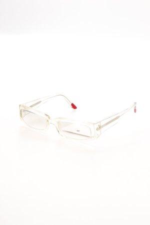 Hugo Boss eckige Sonnenbrille hellgrau Logoprägung