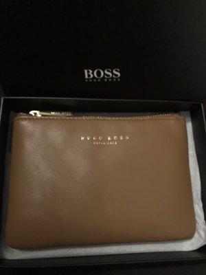 Hugo Boss Etui - Leder beige - goldbraun- NEU + UVP