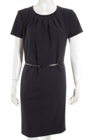 Hugo Boss Etuikleid dunkelblau-schwarz Business-Look