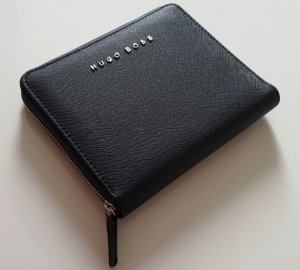 Hugo Boss Wallet dark blue imitation leather