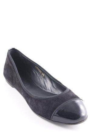 Hugo Boss Bailarinas plegables negro look casual