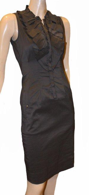 HUGO BOSS Falten Kleid Rüschen Stretch Gr. 32