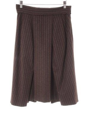 Hugo Boss Jupe à plis taupe-marron clair rayure fine style décontracté