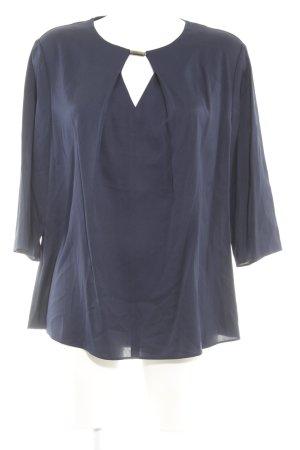 Hugo Boss Blouse brillante bleu foncé élégant