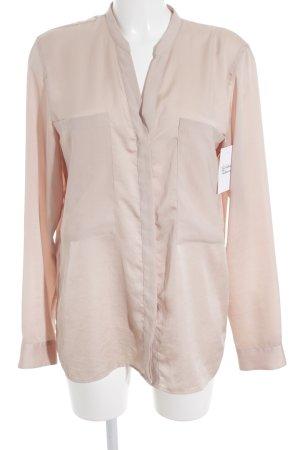 Hugo Boss Glanzende blouse nude zakelijke stijl