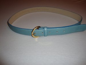 Hugo Boss Gürtel 100% Original Leder hellblau  NEU nie getragen