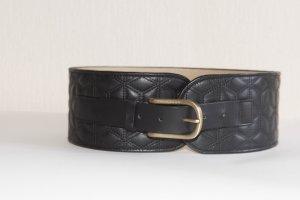 Hugo Boss Cinturón pélvico negro Cuero