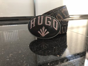 HUGO Hugo Boss Leather Belt black leather