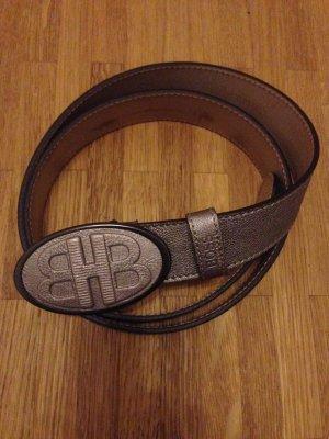 Hugo Boss Cinturón de cuero color bronce-color oro